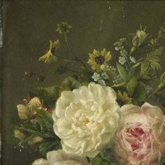 painting, Gerardina Jacoba van de Sande Bakhuyzen, 1850 - 1880 - Still Life with blooms-Collected Works of Victoria Leachman - All Rijksstudio's - Rijksstudio - Rijksmuseum