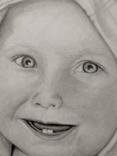 """A close up of a portrait I just finished.  11 x 17"""" Pencil Portraits (1 Person) starts at $100"""