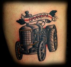 Tractor Tattoo 171 Mike Riina Tattoo Tattoo Realistic