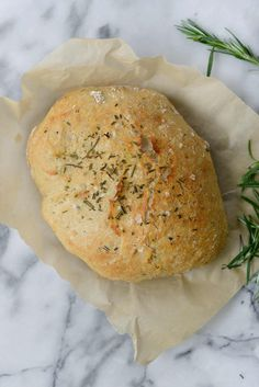 No Knead Whole Wheat Rosemary Bread made in the Instant Pot!