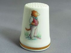 Royal Crown Derby /'The Golden Flower/' China Thimble B//77