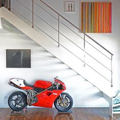 Home sweet home 🏡 Phot Ducati 916, Ducati Superbike, Moto Ducati, Ducati Motorcycles, Moto Bike, Cafe Racer Moto, Cafe Racing, Custom Cafe Racer, Cafe Racer Bikes