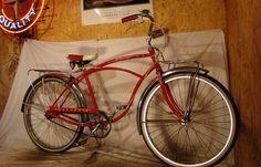 VINTAGE SCHWINN CORVETTE 3-SPEED BIKE ANTIQUE MENS PROJECT BICYCLE TYPHOON RED!