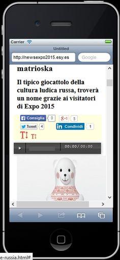 Quando visiti dal tuo iPhone 5 il nostro sito www.newsexpo2015.eu, ci vedi in questo modo.