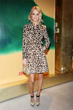 Cara Delevigne - Leopard trench- pretty much in love with the leopard trend even though it is everywhere.