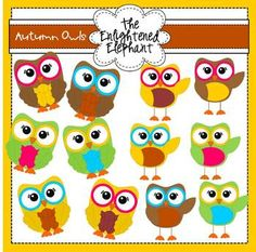 Autumn Owls Clip Art Black N White Images, Black And White, Owl Theme Classroom, Owl Clip Art, Frame Clipart, Fall Projects, Wood Letters, Origami Owl, Cricut Ideas
