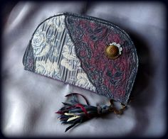 Handmade by Judy Majoros - Fringe wallet-clutch with rose decorations, and lace and leather fringe. Rose Decor, Bagan, Leather Fringe, Clutch Wallet, Coin Purse, Decorations, Purses, Lace, Handmade