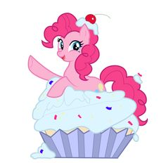 Pinkie Pie and Giant CUPCAKE!?