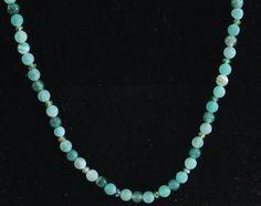 Necklace-Polished and unpolished Jade, Swarovski crystals.