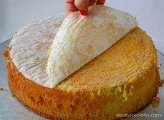 Receita básica de pão de ló
