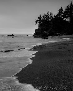 Black & White Photo of the Oregon Coast by OnceUponAShore, available in 8X10, 11X14 or 16x20 on Etsy