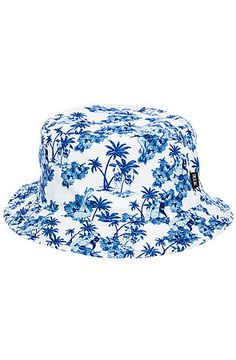469cb3039b0 The Aloha Floral Bucket Hat in White Floral Bucket Hat