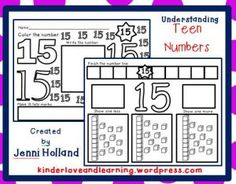 Teach the teen numbers with these printables!