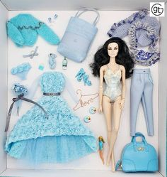 Goodbye winter blues! Exclusive fashion for integrity toys poppy parker, fashion royalty, nuface, barbie and silkstone 12 inch doll Integrity, Barbie Dolls, Poppy, Blues, Royalty, Silk, Toys, Winter, Fashion Design