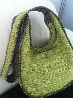 """Купить Сумка ,,Apple"""" - салатовый, однотонный, вязаная сумка, летняя сумка, сумка через плечо"""