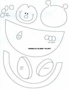Molde de Feltro Joaninha by Giovana Girardi, via Flickr Paper Piecing Patterns, Felt Patterns, Summer Patterns, Foam Crafts, Crafts To Make, Crafts For Kids, Felt Templates, Card Templates, Greeting Card Template
