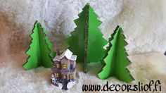 Dc fix apple green cardboard christmastrees. Recykle and fun idea  #dcfix #idea #diy #christmas #decor