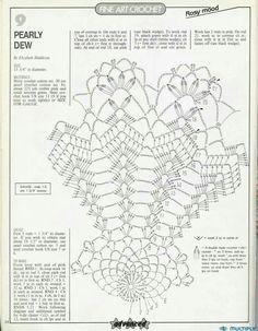 Album Archive - Magic Crochet n° 65 Free Crochet Doily Patterns, Crochet Doily Diagram, Crochet Chart, Thread Crochet, Crochet Doilies, Knitting Patterns, Crochet Table Runner, Crochet Tablecloth, Crochet Home