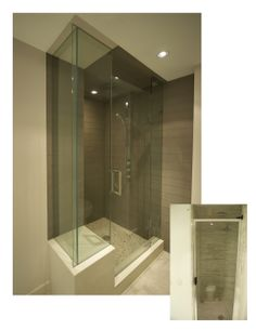 If you don't have room to enlarge a shower in the space you have, bring the shower forward into the bathroom area. This not only increases the size of space to stand, it also permits you to add a place for sitting. Commercial Interior Design, Commercial Interiors, Glass Shower Enclosures, Your Design, Kitchen Design, Glass Showers, Interior Decorating, Bathtub, Architecture