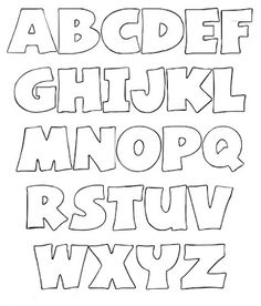 Alphabet Font Templates  My Traceables    Printable