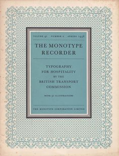 The Monotype Recorder cover, c. 1958 (via Mikey Ashworth)