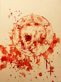 """Maxime Taccardi - """"The Pact"""" (painted with his blood)"""