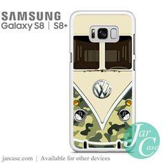 green camo vw retro bus Phone Case for Samsung Galaxy S8 | S8 Plus