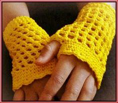 NEW PDF PATTERN Sunshine Girl Crochet Fingerless by PinkieJane, $3.50