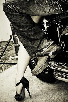 DP Customs Incredible Seventy Three Harley Ironhead Bike :)Go on a road trip Retro Moto's Honda - Biker Chick, Biker Girl, Lady Biker, Image Moto, Harley Davidson, Biker Love, Country Boys, City Girl, Model Photographers
