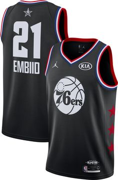 Jordan Men s 2019 NBA All-Star Game Joel Embiid Black Dri-FIT Swingman  Jersey a322a0b56