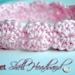 Crochet Shell Headband {free crochet pattern}