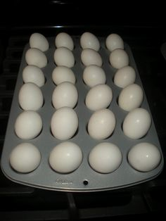 Working House Mom, Wife: Hard Boiled Eggs in the Oven