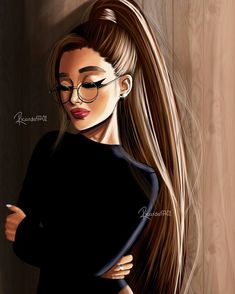 girly m discovered by hiba saadi on We Heart It Ariana Grande Anime, Ariana Grande Drawings, Ariana Grande Cute, Ariana Grande Wallpaper, Beautiful Girl Drawing, Cute Girl Drawing, Girl Drawing Pictures, Best Friend Drawings, Girly Drawings