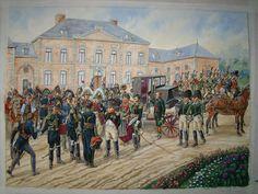 Napoléon au Château de la paix à Fleurus le 16 juin 1815
