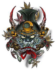 Oni samurai coloured and up for grabs. This one will be available during my guest spot at @tattoo_magic3065  Email me for bookings  #oni #samurai #japanese #japanesetattoo #japaneseart #tattoo #tattoos #orientaltattoo #ink #asian #irezumi #wabori #digitalart #digital #wacom #cintiq #mangastudio #manga #flash #art #artist #custom #draw #travel #instaart #instaartwork #myart