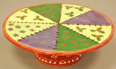 Paint your own Christmas cake stand in pottery/bisque/earthenware.