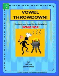 Vowel Throwdown! -A Short and Long Vowel Sorting 'n Matchi