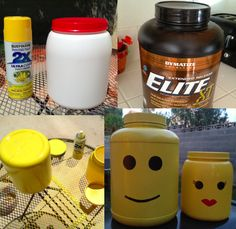 Protein Powder Container tuned Lego Man/Woman Container. Guys you get to keep your Man Card with this project!