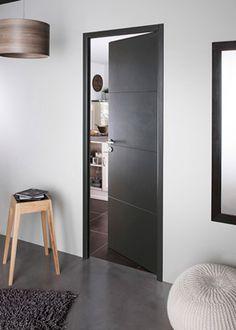 La couleur des portes interieures contemporaines en fonction couleur parquet