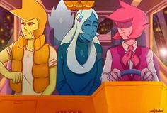 Steven Universe, SU, diamonds, Yellow Diamond, Blue Diamond and Pink Diamond on a ride through tha universe☆☆☆