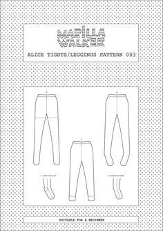 PDF Alice tights/leggings sewing pattern by MarillaWalker on Etsy
