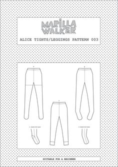 PDF Alice tights/leggings sewing pattern