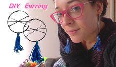diy boucles d'oreilles pompom bleu créole pour un cadeau de noël home made, kdo dernière minute, idée kdo noel, chrismas present, diy earring,chrismas gift lien vidéo: https://youtu.be/GLG9FFIB4gg