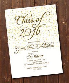 ON SALE Class of 2017 Graduation Invitation Card graduation