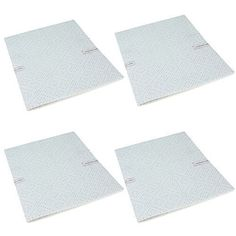 First4Spares 4 x 57cm x 47cm Premium Quality Oven Cooker Extractor Hood Grease Filters For Smeg