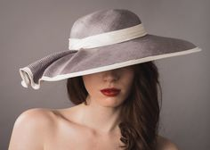 Mia Picture Hat Wide brim parasisal picture with rippled brim detailing www.natashamoorhouse.com
