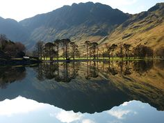 Haystacks, Lake District, a fabulous photo with reflections in Buttermere, It took me two attempts and a lot of encouragement from my sister to get to the top, but what a reward:) Cumbria, Lake District, Places In England, Amazing Buildings, Landscape Photos, Beautiful Landscapes, The Great Outdoors, Places To See, Countryside