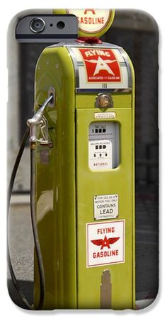 Flying A Gasoline - National Gas Pump Canvas Print / Canvas Art by Mike McGlothlen Old Gas Pumps, Vintage Gas Pumps, Station Essence, Pompe A Essence, Retro, Gas Service, Old Garage, Old Gas Stations, Filling Station