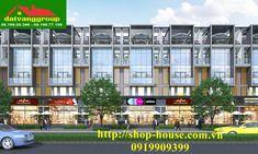 nhà phố thương mại shophouse Installation Architecture, Japan Architecture, Concept Architecture, Shop Front Design, House Design, Riverside City, Shop Facade, Long House, Commercial Street