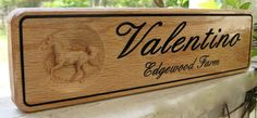 Personalized Horse Stall Sign 3 Tall Red by GPandSonWoodcrafting